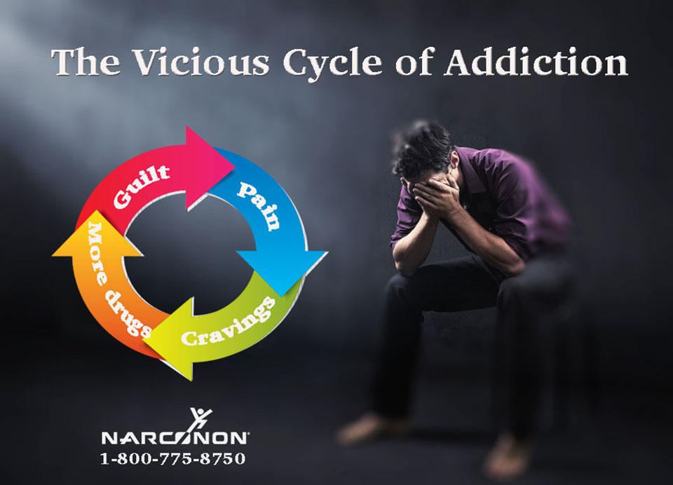 A Vicious cycle of pain, cravings, more drugs, and guilt